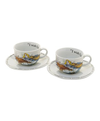 Alice in Wonderland 8-Oz. Cup & Saucer - Set of Two