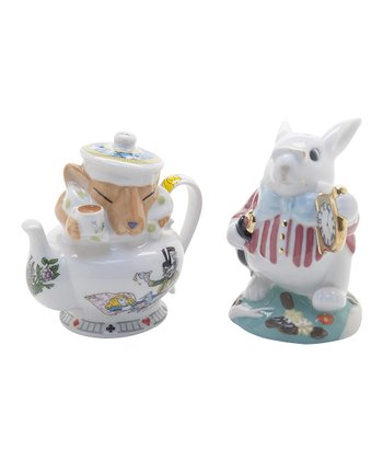 Alice in Wonderland Salt & Pepper Shakers