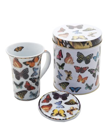 Butterflies Mug & Coaster Set