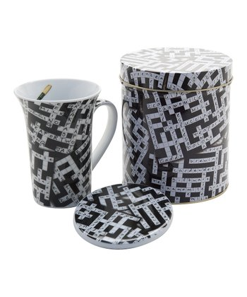 Crossword 14-Oz. Mug & Coaster Set