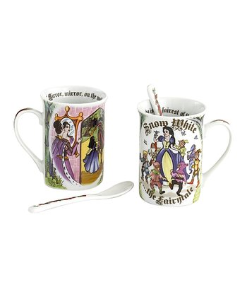 Snow White Mug & Spoon - Set of Two