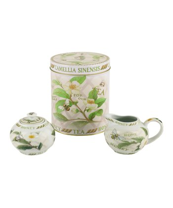 Tea Plant & Honey Bee Tea Accessory Set