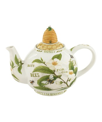 Tea Plant & Honey Bees 48-Oz. Teapot