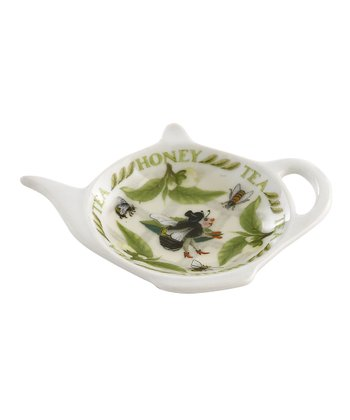 Tea Plant & Honey Bee Tea Bag Rest - Set of Four