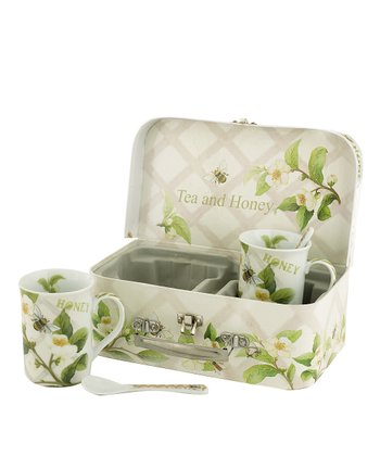 Tea Plant & Honey Bees Mug & Spoon Set