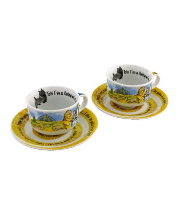 Wizard of Oz Cup & Saucer - Set of Two