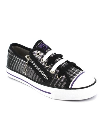 Purple Plaid Lenwood Sneaker - Women