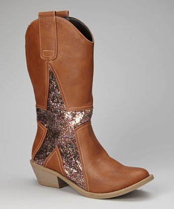 Brown & Silver Alamo Cowboy Boot - Women