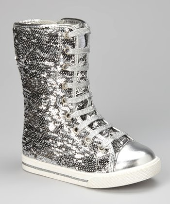 Platinum Galaxy Hi-Top Sneaker - Women