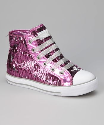 Purple & Silver Midway Hi-Top Sneaker