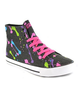 Neon Black Epic Hi-Top Sneaker - Kids