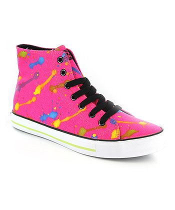 Neon Hot Pink Epic Hi-Top Sneaker - Kids