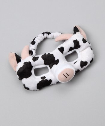 Black & White Cow Eye Mask