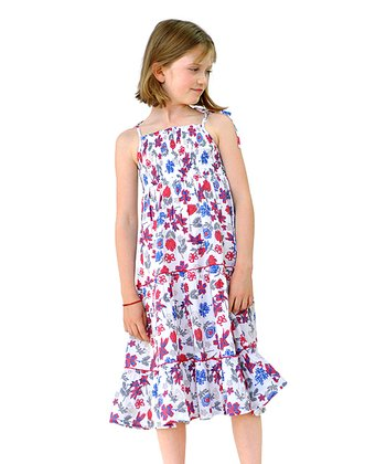 Salisbury Leaf Print Sundress - Infant, Toddler & Girls