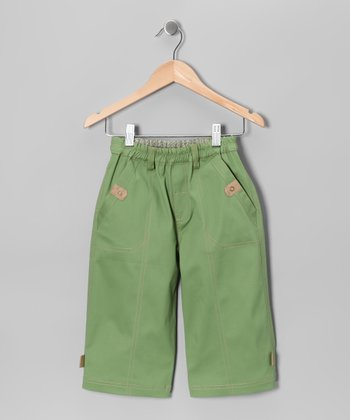 Leaf Green Shorts - Toddler & Kids