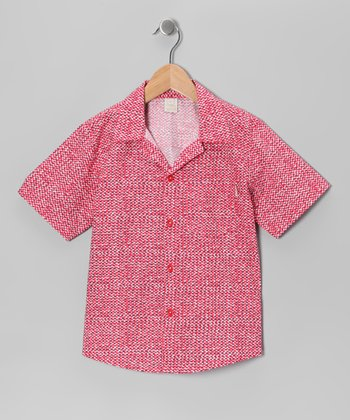 Red Normandy Short-Sleeve Button-Up - Toddler & Boys