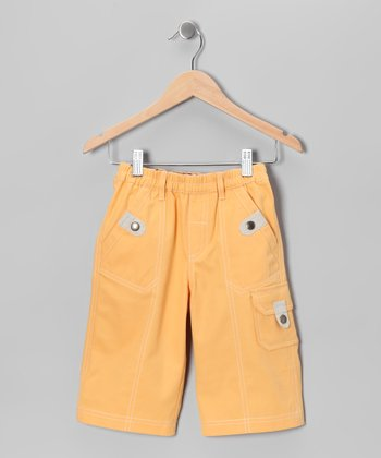 Sunset Yellow Cropped Pants - Kids