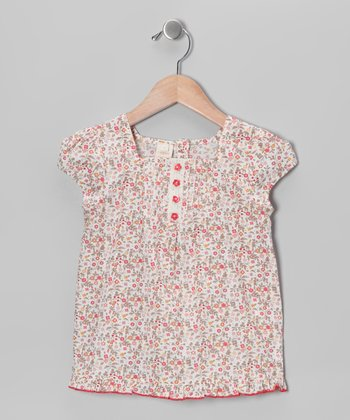 Cream Desert Flower Top - Toddler & Girls