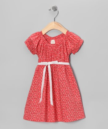 Cinnamon Puff-Sleeve Dress - Infant