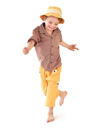Beige Emil Button-Up - Toddler & Boys
