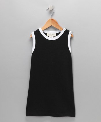 Black & White Organic Shift Dress - Infant & Toddler