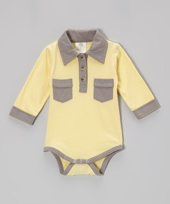 Golden Organic Polo Bodysuit - Infant
