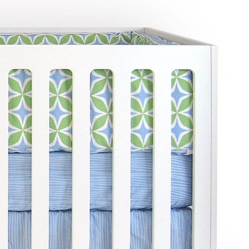 Foursquare Blue 3-Piece Crib Bedding Set