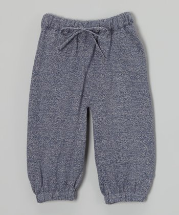 Dark Blue Heather Organic Sweatpants - Infant