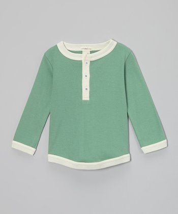 Malachite Organic Henley - Infant & Toddler