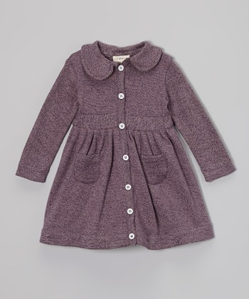 Plum Heather Wendy Pocket Organic Dress - Infant, Toddler & Girls