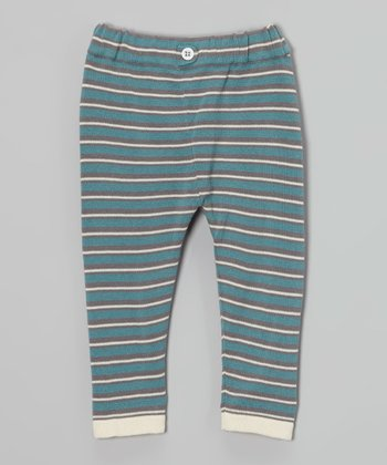 Smoke Stripe Organic Leggings - Infant