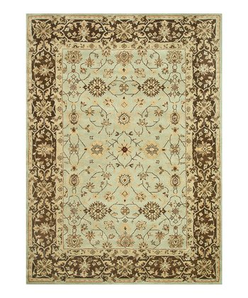 Blue & Brown Elmwood Wool Rug