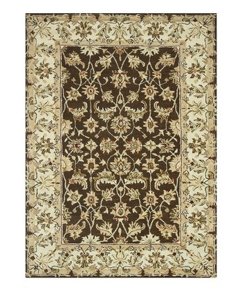 Brown & Ivory Elmwood Wool Rug