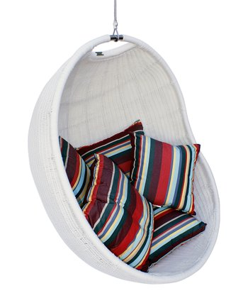 White & Stripe Urban Balance Cove Chair