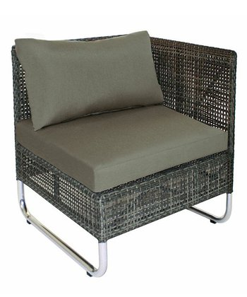 Charcoal Grid Corner Chair