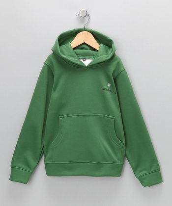 Lucky Bums Green Performance Hoodie - Boys