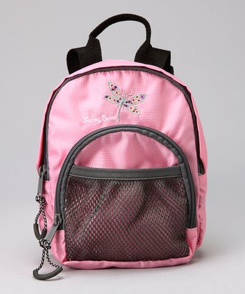 Pink Lucky Bug Dragonfly Backpack