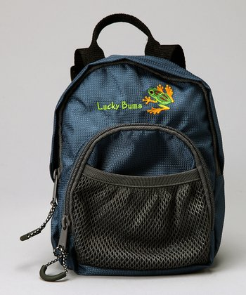 Blue Lucky Bug Frog Backpack