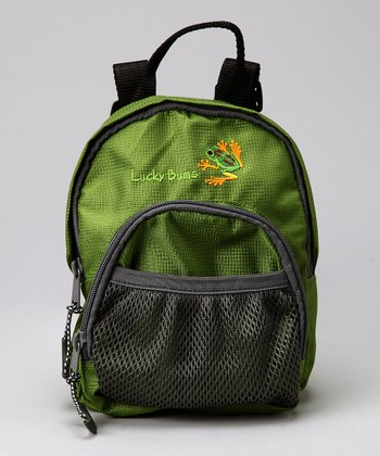 Green Lucky Bug Frog Backpack