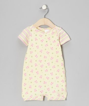Rose Bunny Flower Organic Romper - Infant