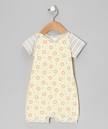 Cornflower Lion Star Organic Romper - Infant