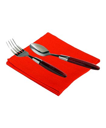 Orange Utensil & Organic Napkin Set