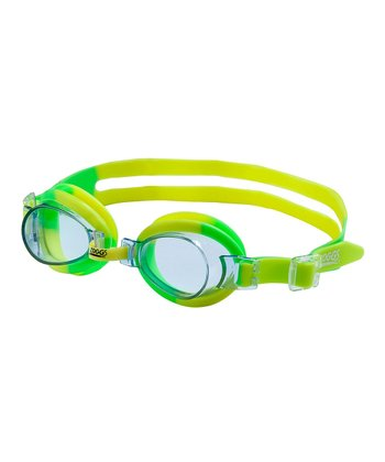Green & Yellow Lil' Swirl Goggles