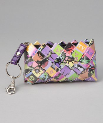 Purple & Green Liberty Keychain Bag