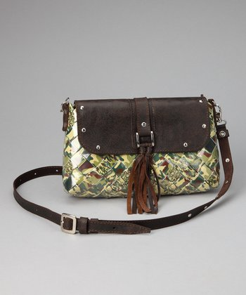 Green Camouflage Large Crossbody Bag