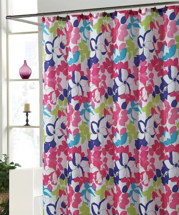 Pink & Blue Makayla Shower Curtain Set