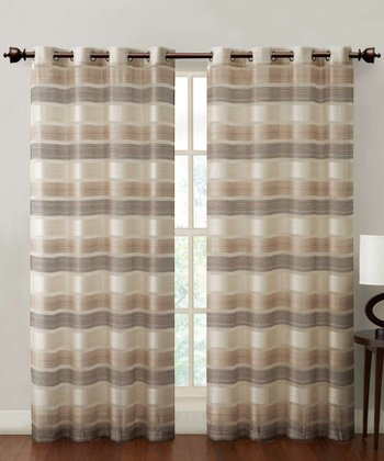 Natural Stripe Allura Curtain Panel