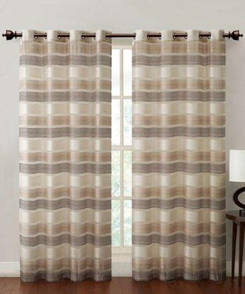 Natural Stripe Allura Curtain Panel