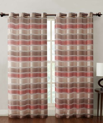 Red Stripe Allura Curtain Panel