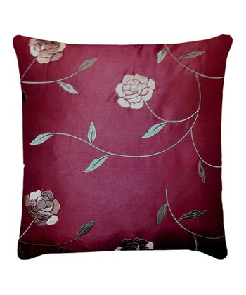 Burgundy & Taupe Annabelle Throw Pillow